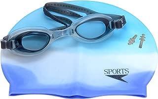 GB Product Sports Hour Silicon Swimming Cap & Swimming Goggle & Ear Plug