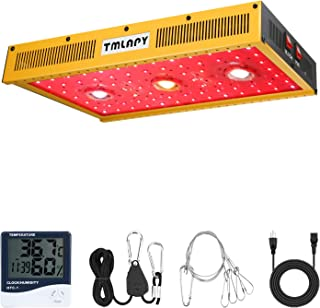 Tmlapy COB LED Grow Light 1500W – Full Spectrum Reflector Series LED Grow Light with Veg and Bloom Switch for Hydroponic Greenhouse Indoor Plants Veg and Flower(Actual Power 310watt)