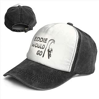 Liusgit Eddie Would Go Steel Effect Men for Baseball Hat Adults Dad Trucker Youth Softball Cap