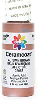 Delta Creative Ceramcoat Acrylic Paint in Assorted Colors (2 oz), 2055, Autumn Brown