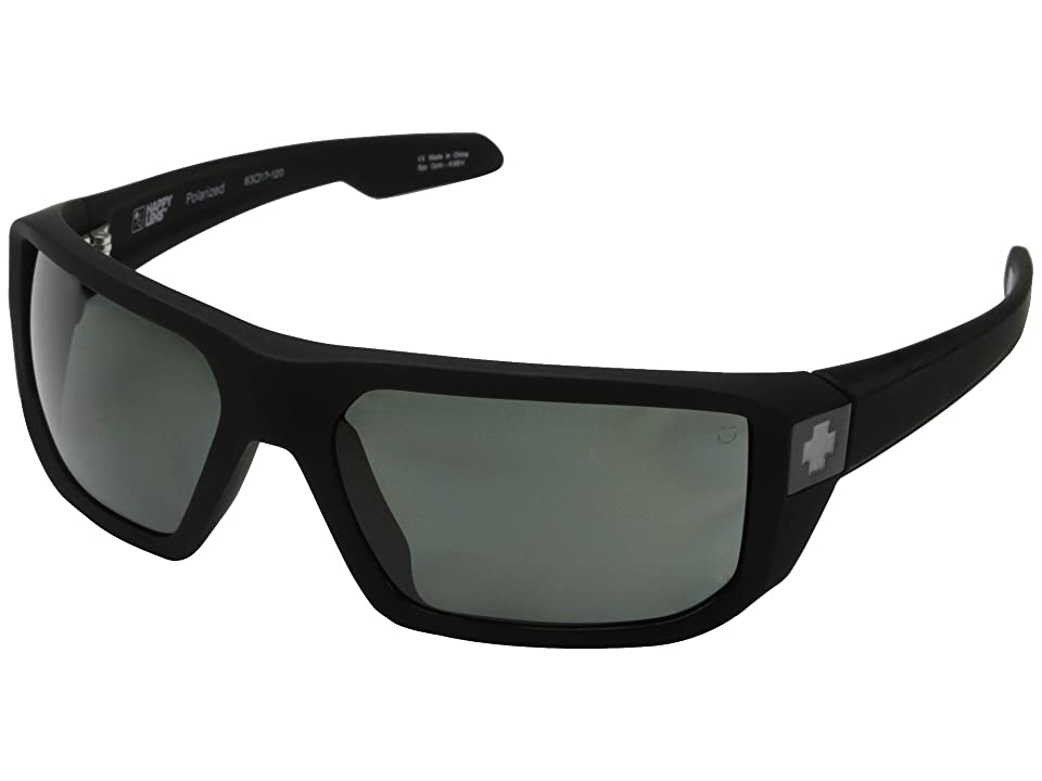 Spy Optic McCoy (Soft Matte Black/Happy Gray Green Polar) Sport Sunglasses