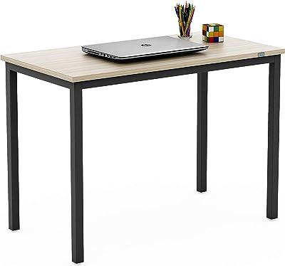 SOS Spacewood LiteOffice Quadri Home and Office Table (Classic Cherry & Black)