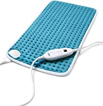 "Heating Pad for Back Pain and Cramps Relief, Sable 12""x24"" Large Electric Hot Heated Pad, Auto Shut Off, 6 Heating Settings, Moist & Dry Heat Therapy for Shoulder Neck Arm Leg Knee"