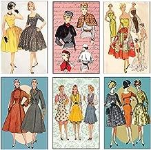Mini Matchbook Set of 6 Images (Retro Fashion)