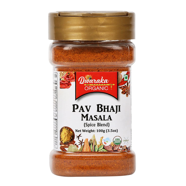 Dwaraka Organic - Pav Bhaji Masala Superlatite 3.5oz Healthy outlet Non