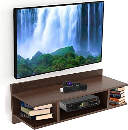 Urban Gifts TV Wall Unit/TV Entertainment Units/Wall Mounted TV Set Top Box Stand/DVD Wall Shelf/Display Unit