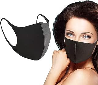 3 Pcs Fashion Protective Face Masks, Unisex Black Dust Cotton Mouth Masks, Washable, Reusable Masks