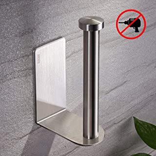 Toilet Paper Holder, Self Adhesive TocTen 304 Stainless Steel Rustproof Toilet Paper Roll Holder, No Drilling Design Easy to Install, The Bathroom Accessory Suitable for Office Kitchen and Bathroom