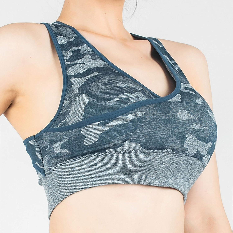 Front Cross Printed Yoga Bra for Women High-Intensity Shock-Proof Fitness Beauty Back Vest Running Gathers Undershirt