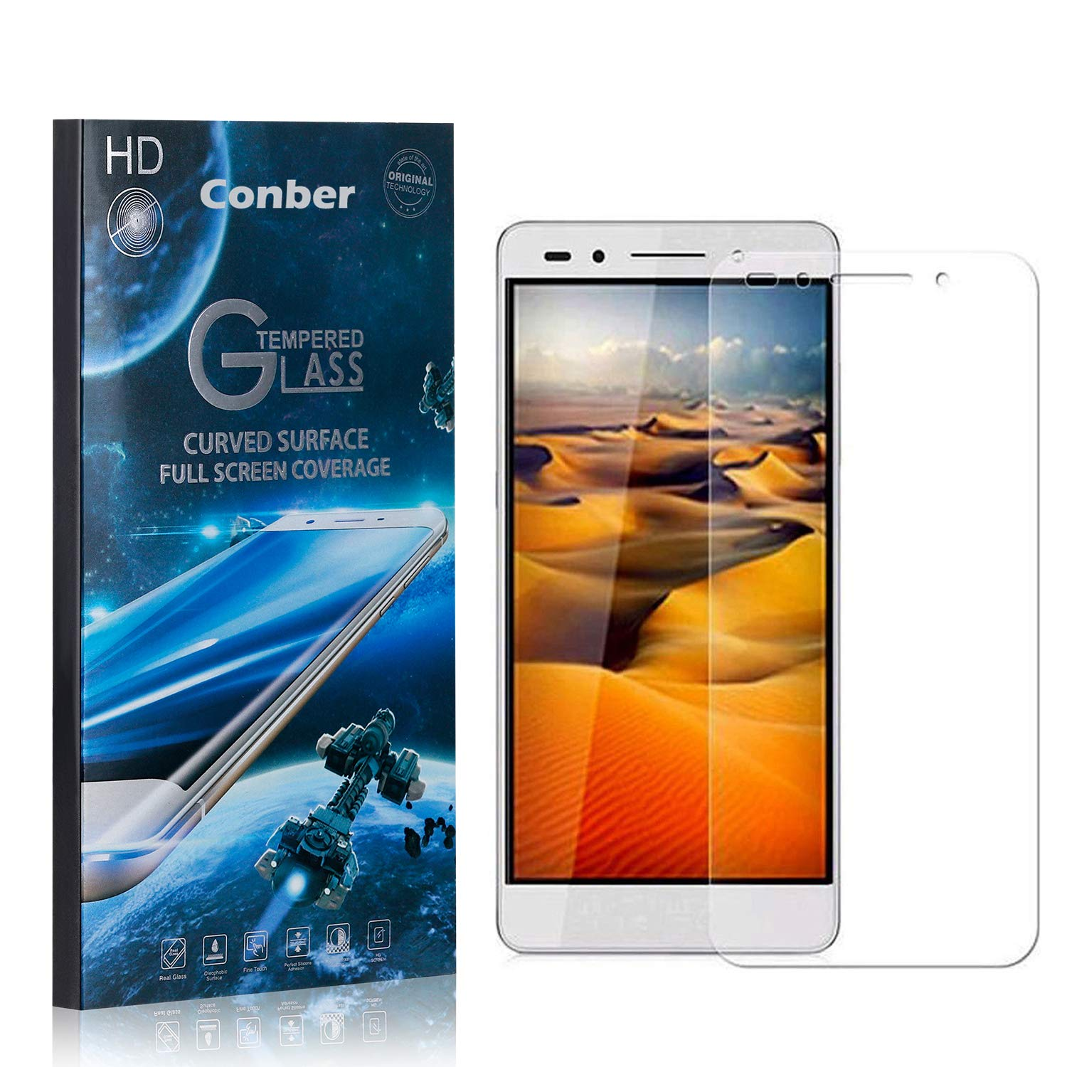 Conber 1 specialty shop Pack Screen Protector Outlet SALE Huawei Scratch-Re 7 for Honor