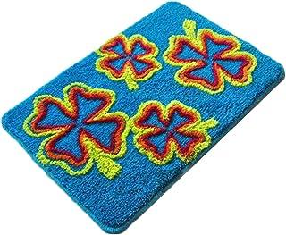 DIY Latch Hook Kit, Loquet Crochet Kits Tapis Broderie, Kit Point de Croix Tapis pour Débutant, 52 x 38 cm (Color : Four L...
