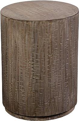 Porter Designs Drum End Table Gray Amazon Co Uk Kitchen Home
