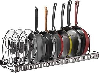 Puricon Rangement Casseroles, Range Poêles, Support Repose Couvercle, Porte-casseroles, Solution de Stockage Flexible pour...