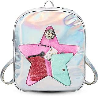 FF1 Cute Hologram Laser Clear Transparent Beach Backpack Ita Bag