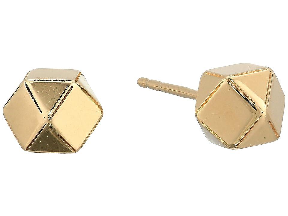 Dee Berkley - Dee Berkley 14KT Solid Gold Geometric Stud Earrings