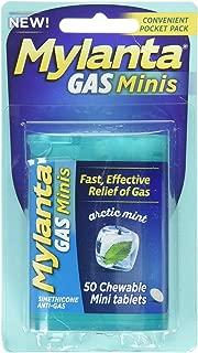 Mylanta Gas Mini Chewable Tabs, Arctic Mint, 50 Mini Tablets Per Bottle (4 Pack)