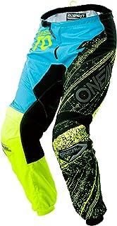 O'NEAL Element Burnout Motocross Hose, Schwarz Blau, hohe Sichtbarkeit, Länge 34, 0108 934
