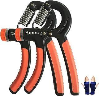 ToBeBold グリップ ハンドグリップ ハンドグリッパー 握る器具 筋トレ トレーニング リハビリ器具 男女兼用 30LB ~ 145LB 手首 サポーター付け 2個セット