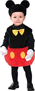 Mickey Mouse Costume for Babies, Includes a Bodysuit, a Hat with Ears, and Gloves