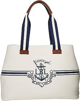 White/Navy Logo