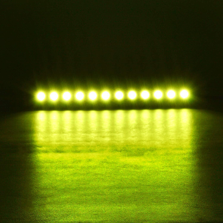 Rigidon 2pc 13cm 27W Focos Led Tractor Luces Amarillas Faros Led Trabajo 12V 24V IP67 Impermeable Haz Puntual Luz de Niebla 6000K Barra Led Coche 4x4 Veh/ículo Cami/ón Off-road Barco ATV UTV SUV