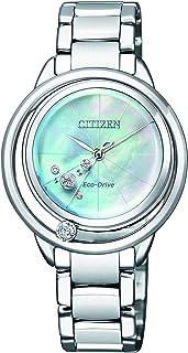 Reloj Analogico para Mujer de Energía Solar con Correa en Acero Inoxidable EW5520-84D