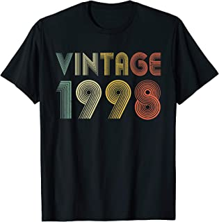 Retro Vintage 1998 TShirt 21st Birthday Gifts 21 Years Old