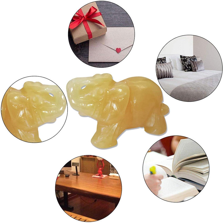 adfafw 1.5-inch /Él/éphant Statues d/écoratives,/Él/éphant Animal Poche en Pierre /Él/éphant Statue Figurine Jade Pierre Bureau D/écoration Ornement Sculpt/é /À La Main Naturel Jade Pierre