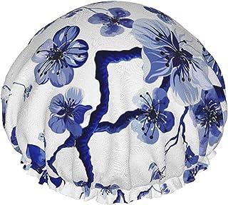 Dwuwarstwowa czapka prysznicowa, akwarelowe malowidła korale na białym tle, wodoodporne elastyczne czepki kąpielowe, z gum...