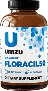 UMZU: FLORACIL50 - Daily Probiotic Supplement - Contains 8 Gut Healthy Bacteria Strains, 1 Month Supply