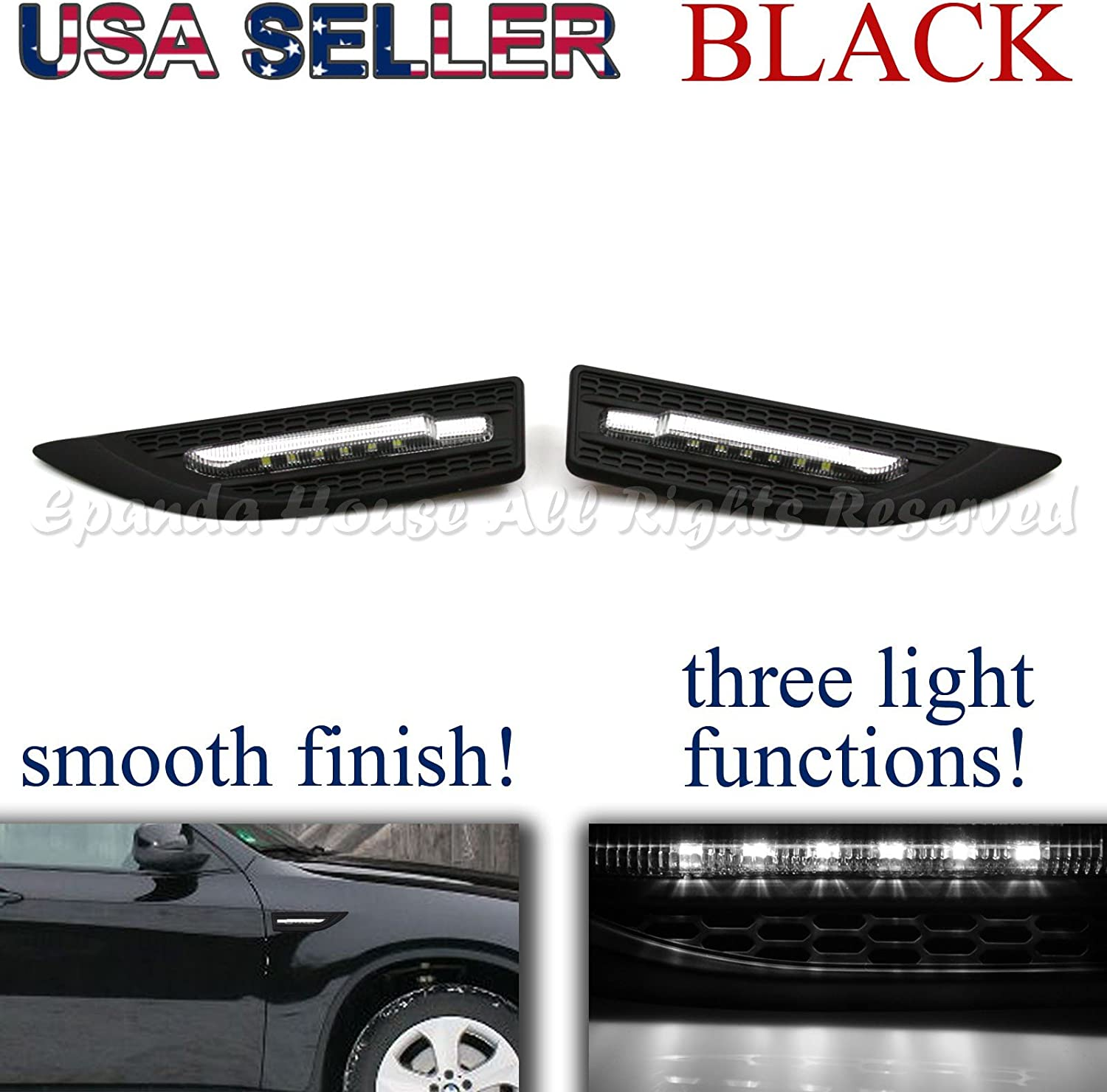 EpandaHouse Selling rankings Compatible with Acur Hond Long Beach Mall A M Fender Side Grille JDM