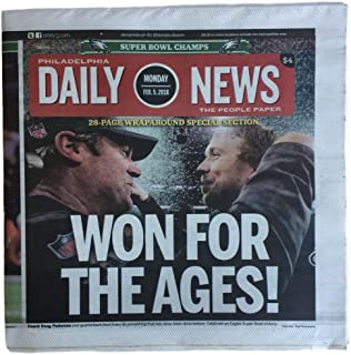 Philadelphia Eagles Feb 5 2018 Super Bowl LII Champions Daily News Full Paper