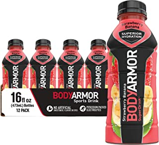BODYARMOR Sports Drink Sports Beverage, Strawberry Banana, Natural Flavors With Vitamins, Potassium-Packed Electrolytes, N...