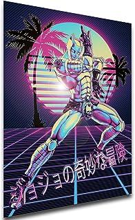 Instabuy Poster - Vaporwave 80s Style - JoJo's Bizarre Adventure - Diamond is Unbreakable - Killer Queen Manifesto 70x50
