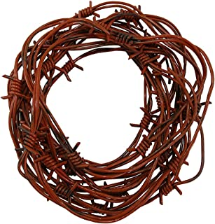 Nicky Bigs Novelties 24 Foot Fake Rusted Barbed Wire Halloween Decoration, Brown