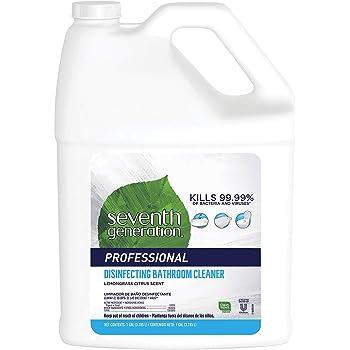 Seventh Generation Professional Disinfecting Bathroom Cleaner Refill, Lemongrass Citrus, Biodegradable, 128 fl oz (Pack of 2)