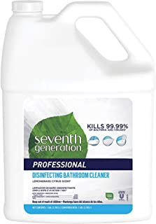 Sponsored Ad - Seventh Generation Professional Disinfecting Bathroom Cleaner Refill, Lemongrass Citrus, 128 fl oz (Pack of 2)