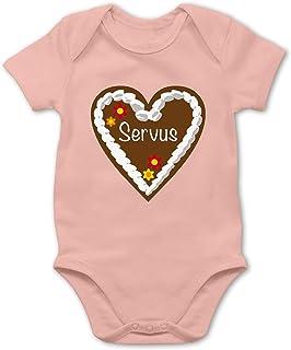 Shirtracer Lebkuchenherz Servus - Baby Body Kurzarm für Jungen und Mädchen