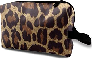 Travel Make-Up Bags Leopard Print (3) Toiletry Travel Pouch Portable Cosmetic Bags Brushed Bag