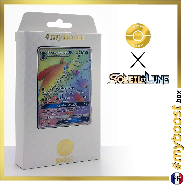 FloramantisGX (MantideaGX) 150 149 Secret Rainbow   myboost X Soleil & Lune 1  Box of 10 French Pokémon Cards