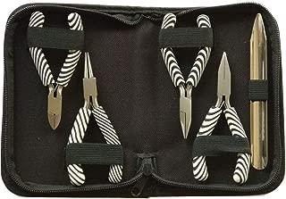 SSCC Jewelry Making Tool Kit/Organized Zipped Case/Jewelry Craft Tool/Jewelry Pliers/Zebra Stripe