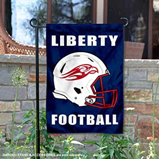 College Flags and Banners Co. Liberty Flames Football Helmet Garden Yard Flag