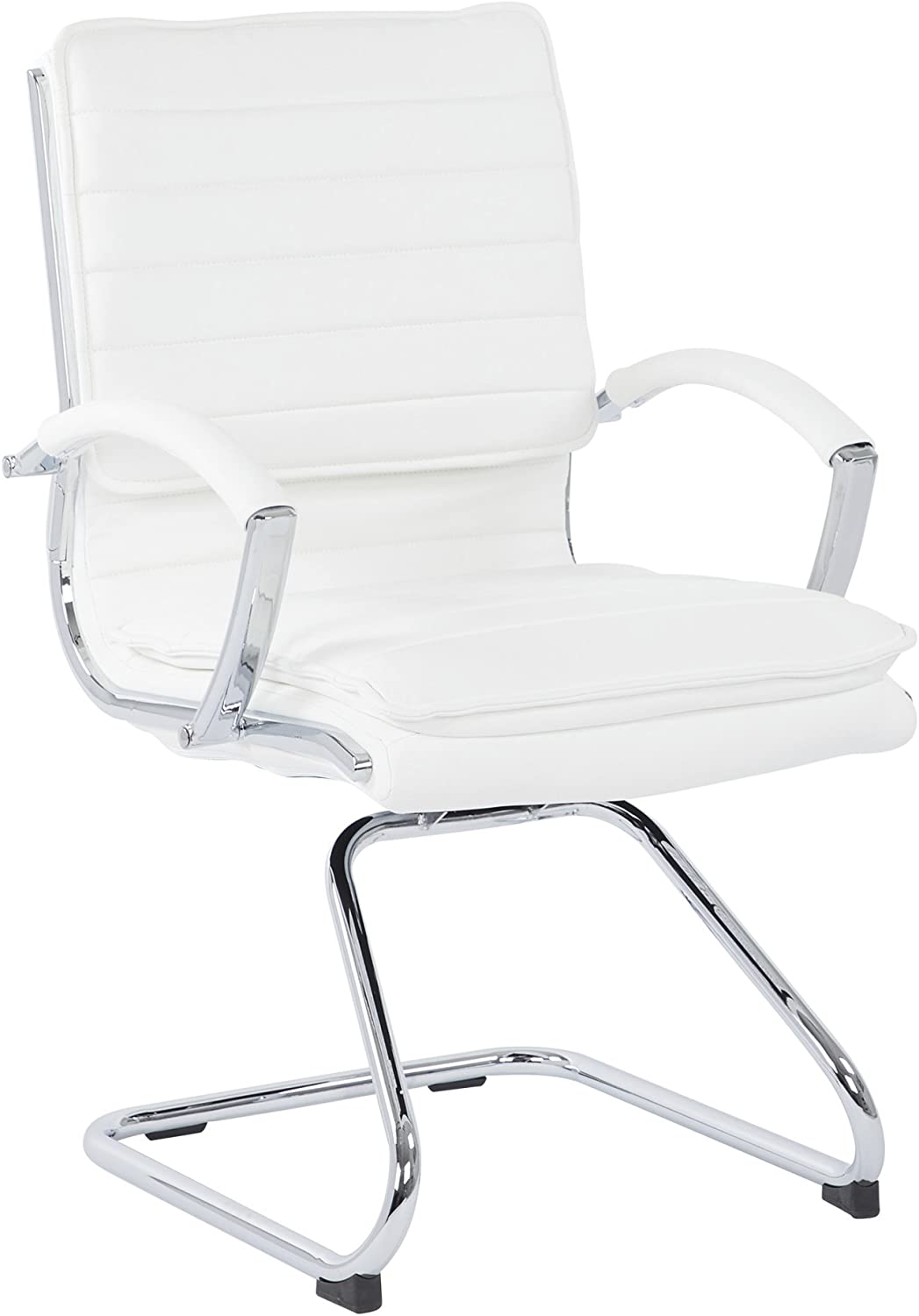 Office Star Faux Leather Guest Chair and Loop Chrome Arms Selling S Japan's largest assortment with