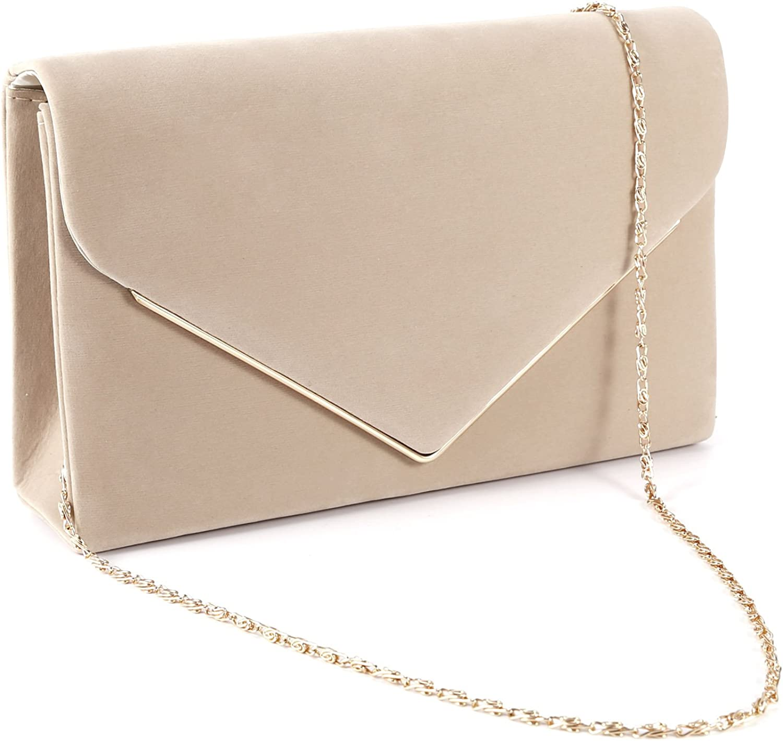 Women/'s Synthetic Patent Leather Clutch Bag Metal Trim Evening Handbag Purse UK