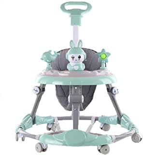COOLBABY Baby walker multifunctional anti-rollover anti-O leg can sit folding 6-18 months male and female baby walker(incl...