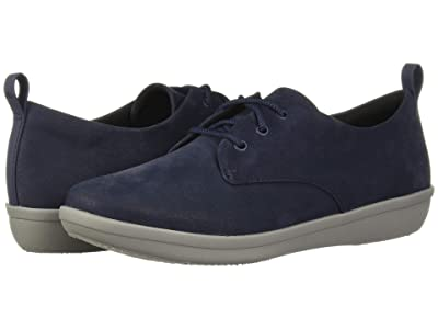 Clarks Ayla Reece (Navy Synthetic Nubuck) Women