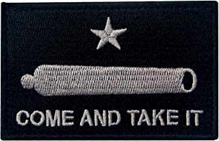 Come and TAKE IT Gonzales Gun Texas Revolution Tactical Embroidered Flag Fastener Hook&Loop Patch