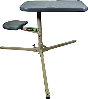 Caldwell Stable Table with Ambidextrous Design, 360 Degree Rotation and Weatherproof Synthetic Top and Seat for Outdoor, Range, Shooting and Cleaning