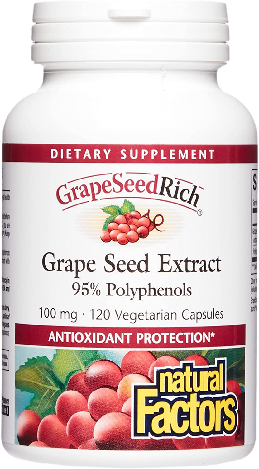 Natural Factors GrapeSeedRich San Francisco Free Shipping New Mall Grape S Extract Seed Antioxidant