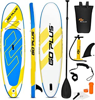 """Goplus Inflatable Stand Up Paddle Board, 6"""" Thick SUP with Accessory Pack, Adjustable Paddle, Carry Bag, Bottom Fin, Hand Pump, Leash and Repair Kit"""